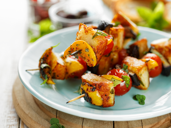 Tasty Vegetable Kebabs